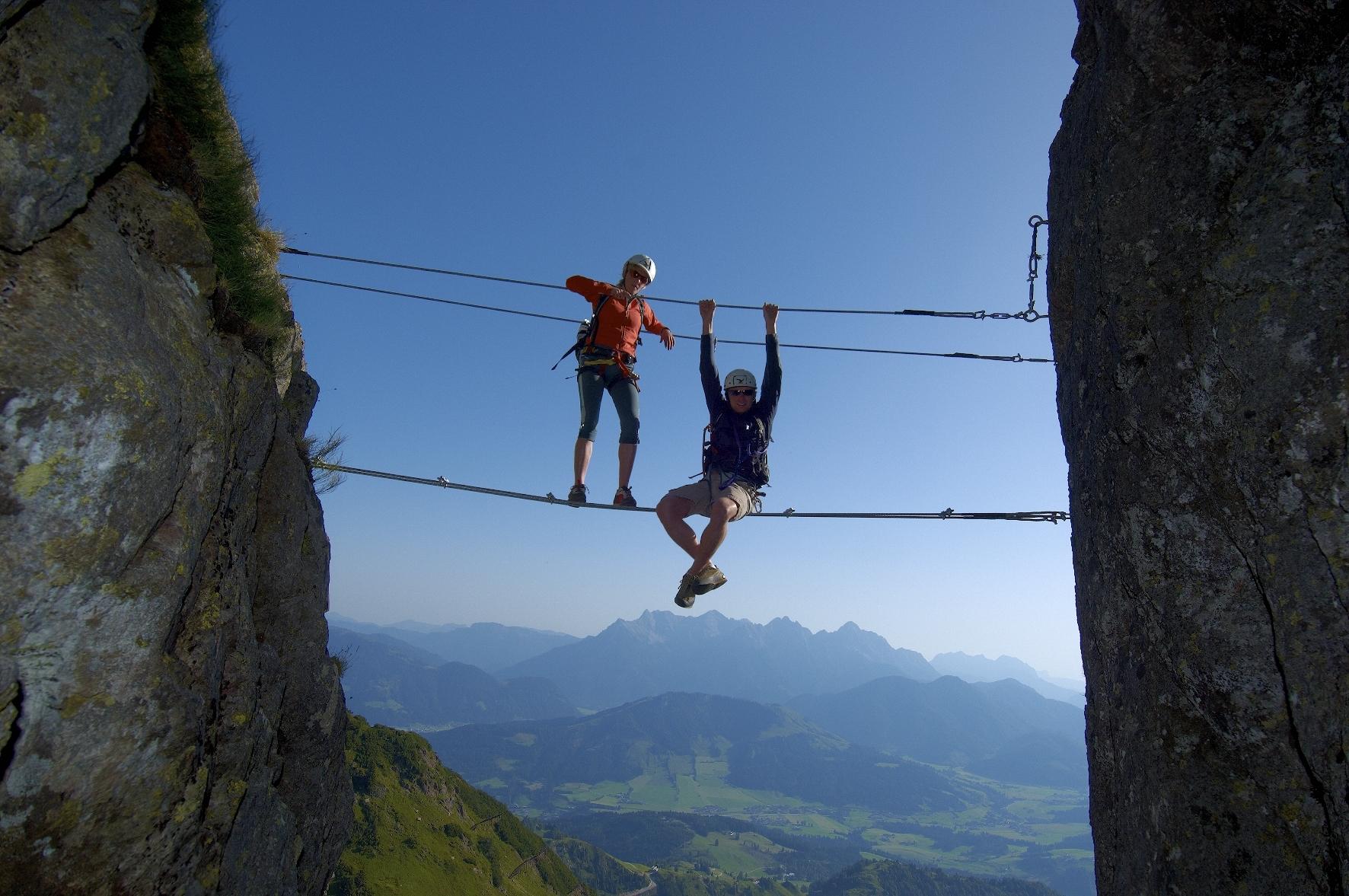 Klettersteig Levels : Sicher am klettersteig mit saac