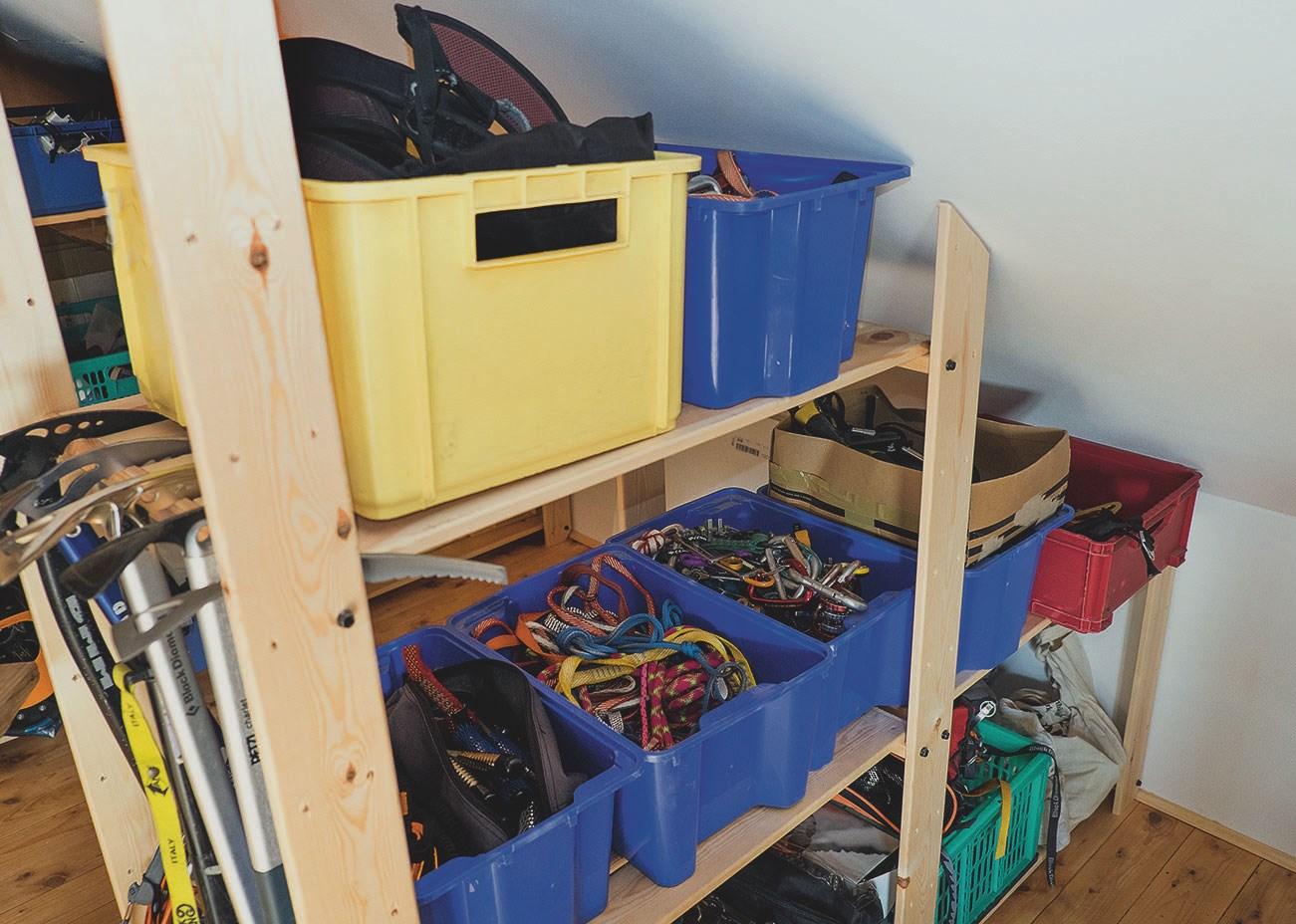 Kletterausrüstung Lagern : Ausrüstung richtig lagern