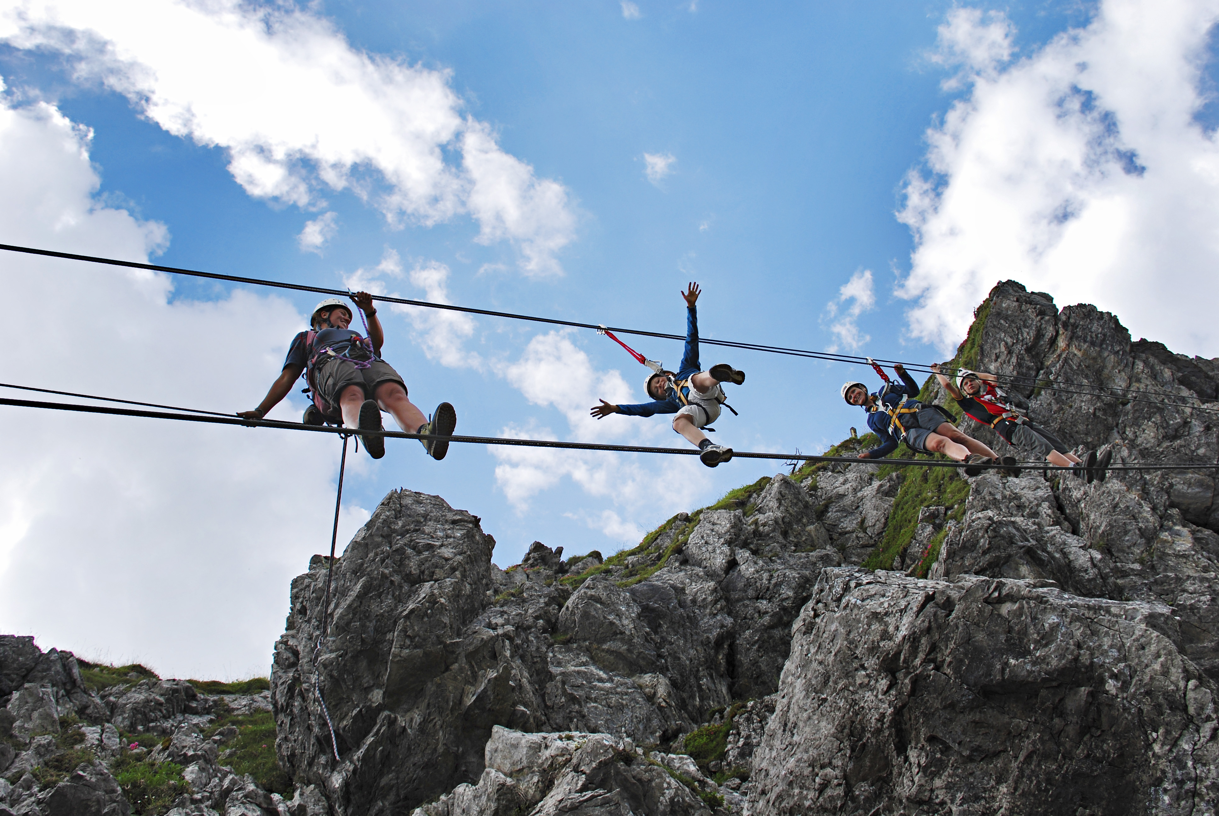 Klettersteig Tannheimer Tal : Mit kindern auf dem klettersteig
