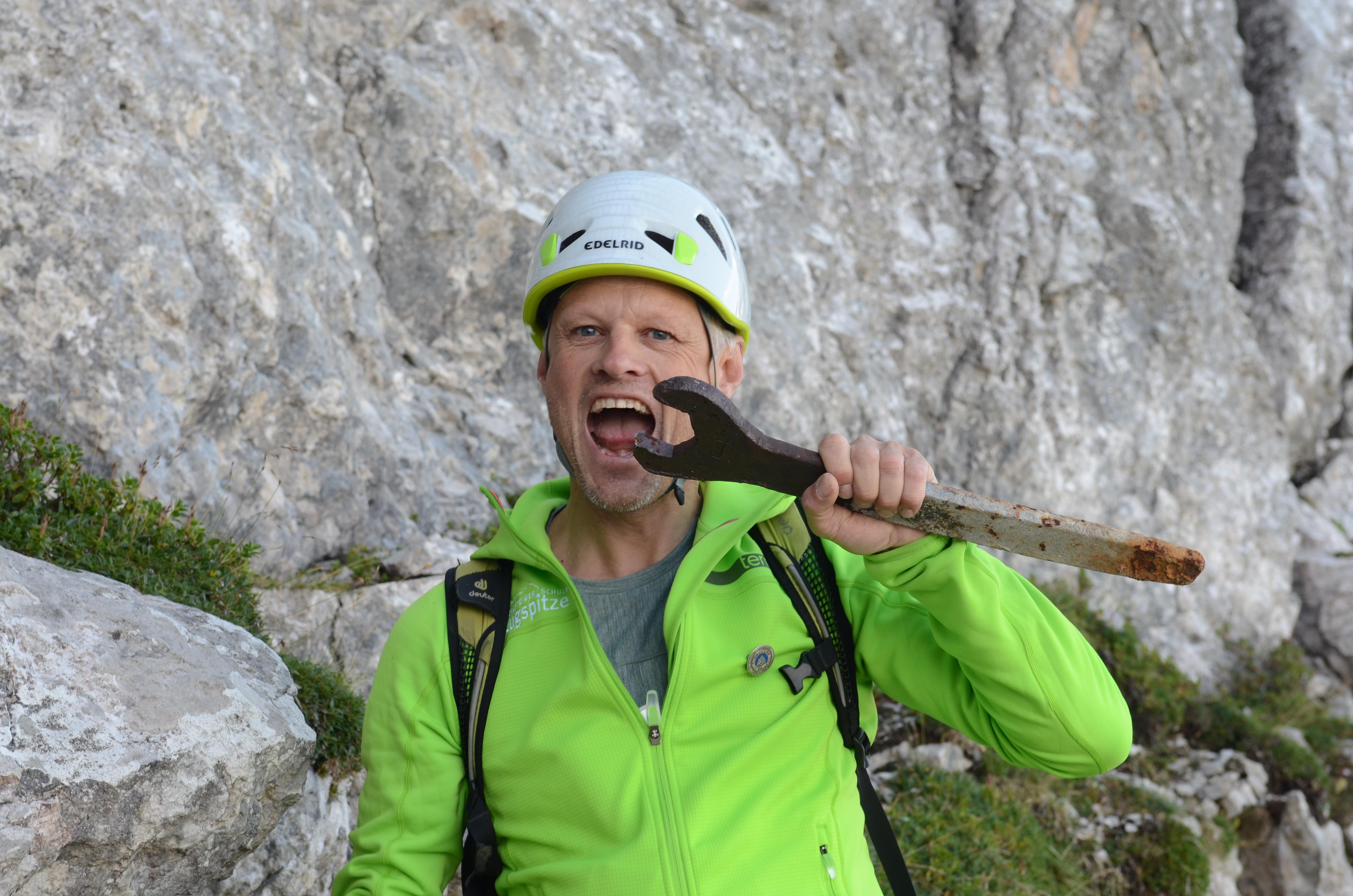 Klettersteig Eisenzeit : Führung eisenzeit zugspitze ludwig karrasch bergführer