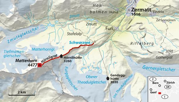 �ber den H�rnligrat auf das Matterhorn