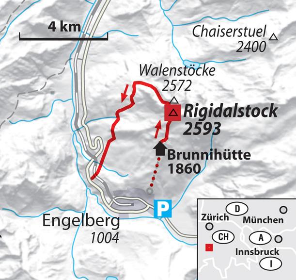 Ski-Bergsteigen am Rigidalstock