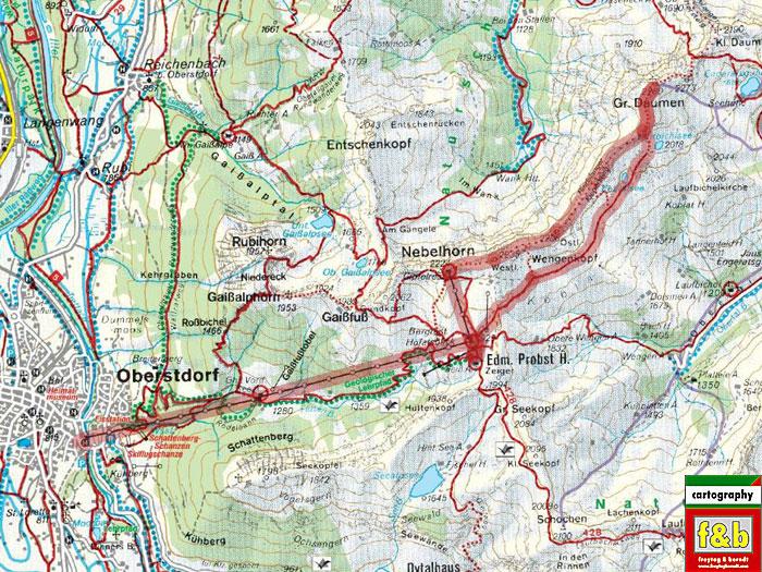 Klettersteig Map : Hindelanger klettersteig tourentipps allgäuer